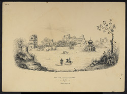 Palace of Kharak Singh at Bhadur. Worked up from an earlier sketch of December 1841